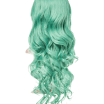 Emerald Green Long Curly Party Wig