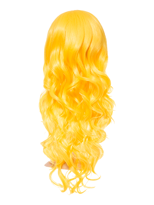 Yellow Long Curly Party Wig