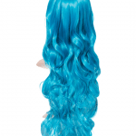 Neon Blue Long Curly Party Wig