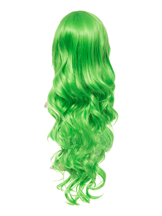Spring Green Long Curly Party Wig