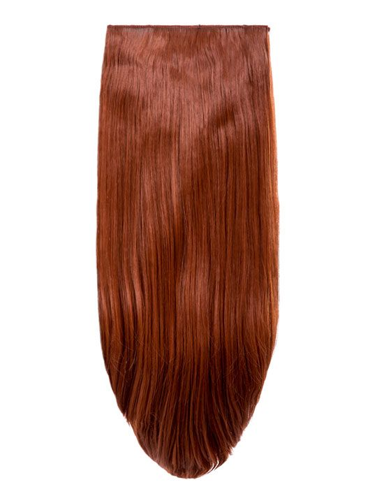 Abigail 8 Piece Straight Full Head Extensions In Copper Red Koko