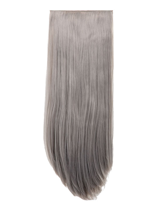 Abigail 8 Piece Straight Full Head Extensions In Silver Gray Koko