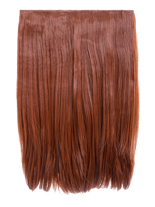 Dolce 1 Weft 18 Straight Hair Extensions In Copper Red Koko Couture