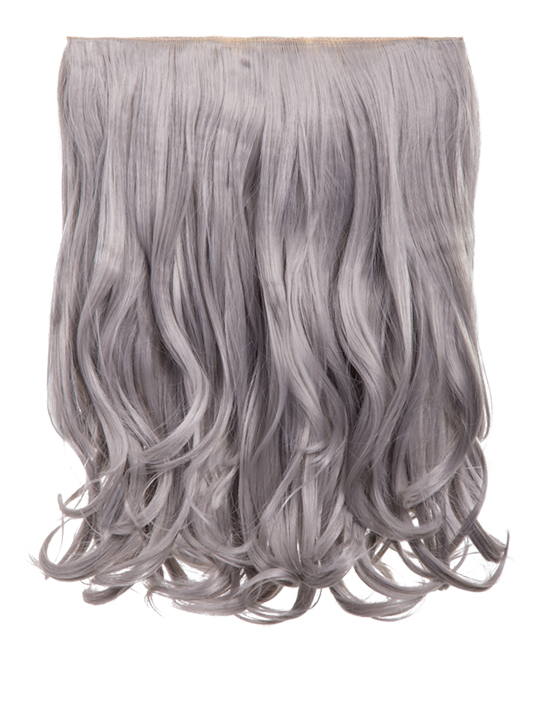 Rosie 1 Weft 16 Curly Hair Extensions In Silver Grey Koko Couture