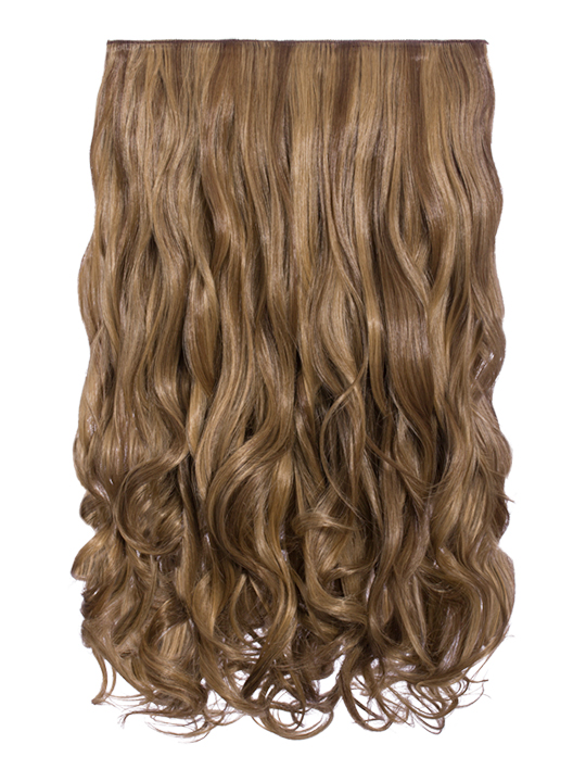 Lorna 1 piece straight hair extensions in light golden brown selena 1 weft curly 20 hair extensions in mellow brown pmusecretfo Gallery