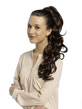 Molly Bump-up Volume Curly Ponytail