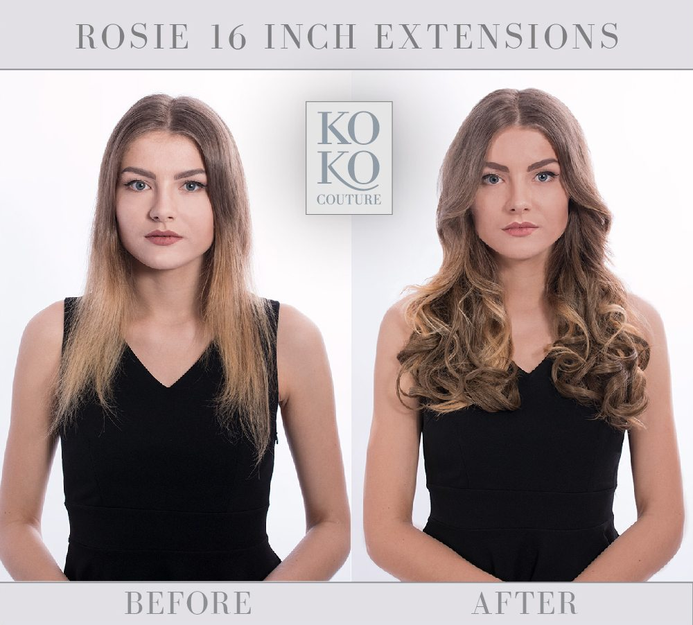 Curly hair extension weft from KOKO Couture