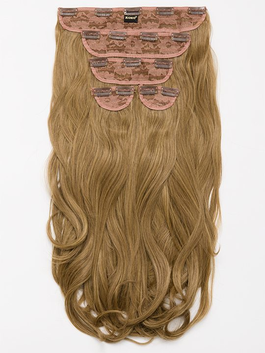 Candice 5 Weft Loose Curl Hair Extensions In Dark Blonde Koko Couture