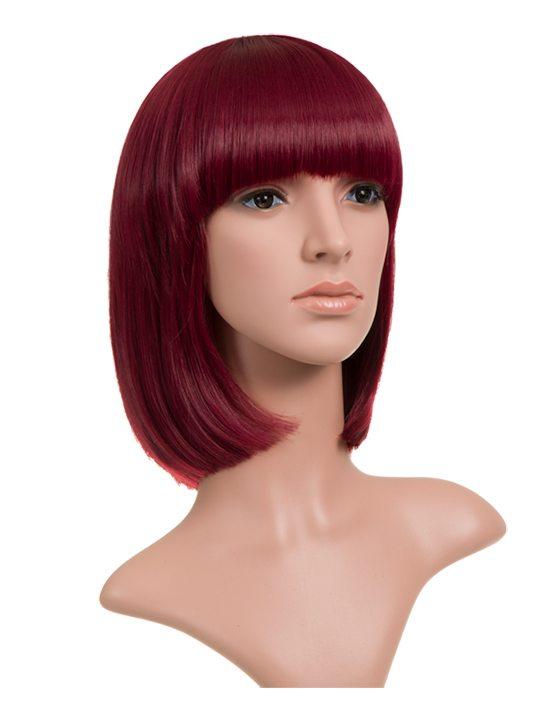 Burgundy Classic Bob Full Head Wig
