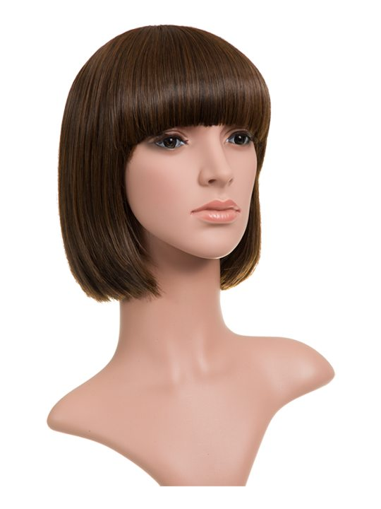 Warm Brunette Classic Bob Full Head Wig