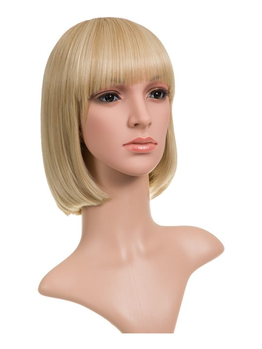 Champagne Blonde Classic Bob Full Head Wig