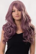 thick curly full head wig purple