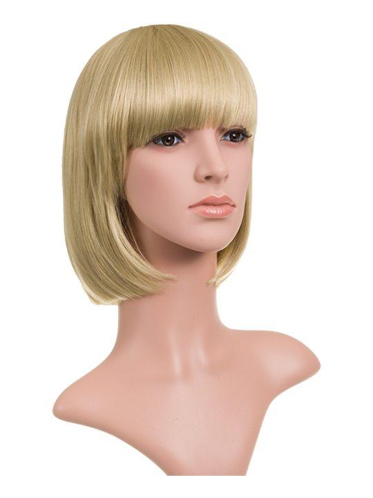 Light Golden Blonde Classic Bob Full Head Wig