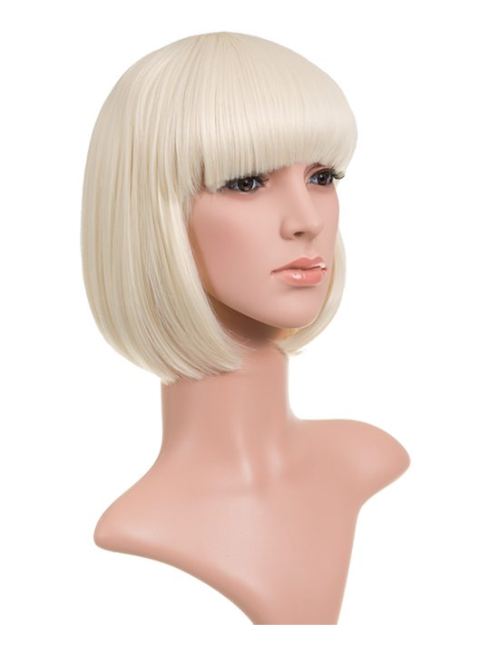 Bleach Blonde Classic Bob Full Head Wig