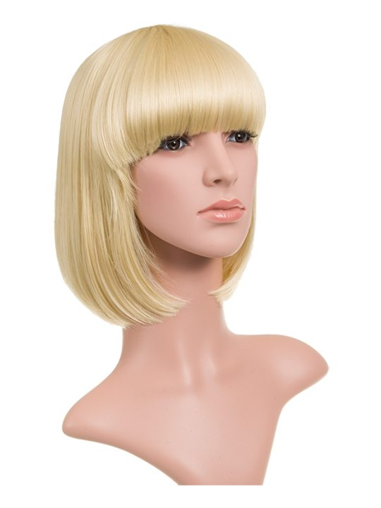 Pure Blonde Classic Bob Full Head Wig