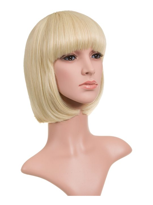 Light Blonde Classic Bob Full Head Wig