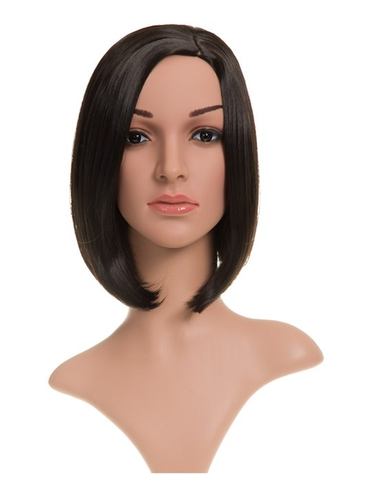 Long Bob Full Head Wig Raven displayed on mannequin