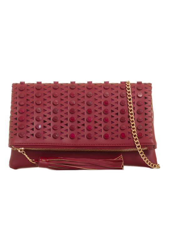 Adelaide Red Laser Cut Bag