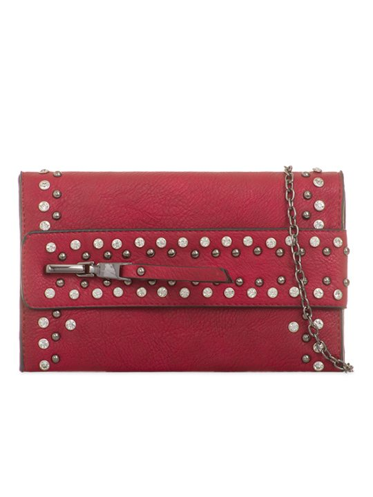 Alivia Red Gem Clutch Bag