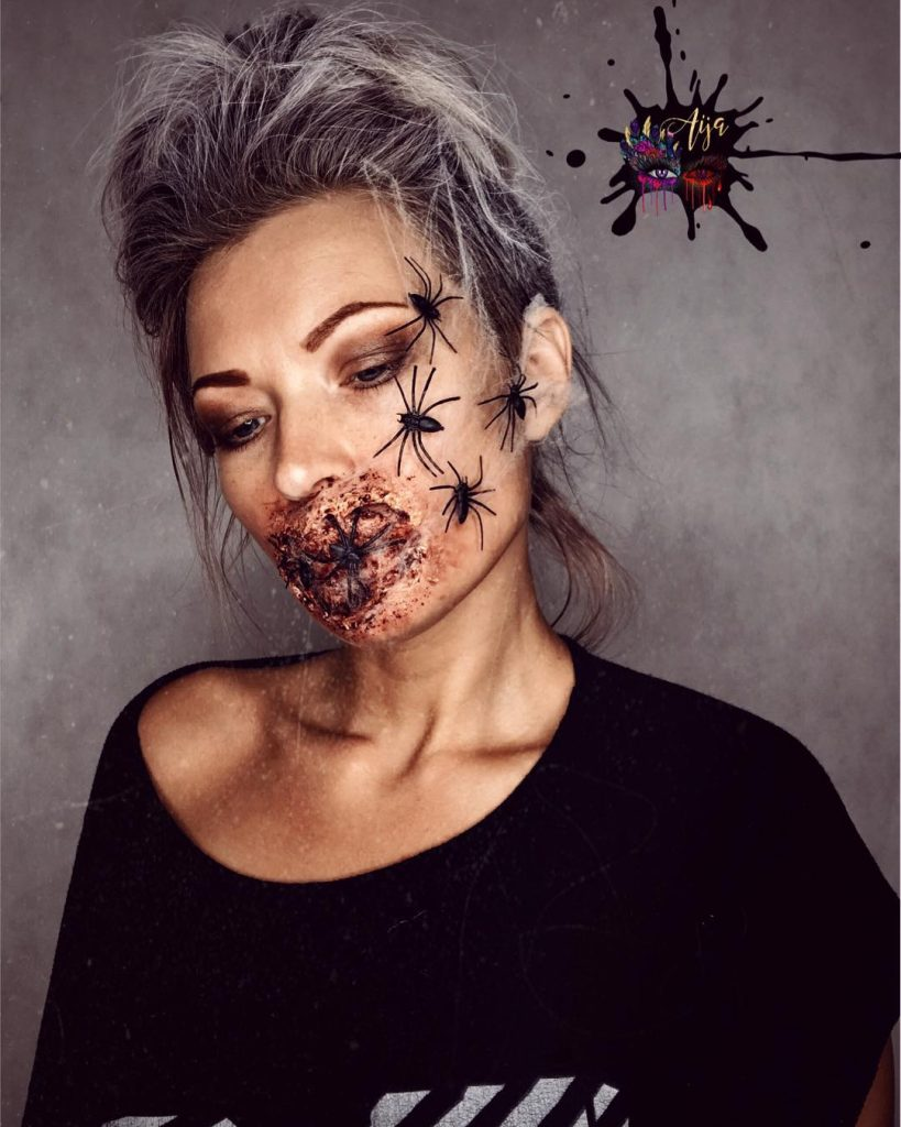 Spider Look for Halloween MakeUp Ideas