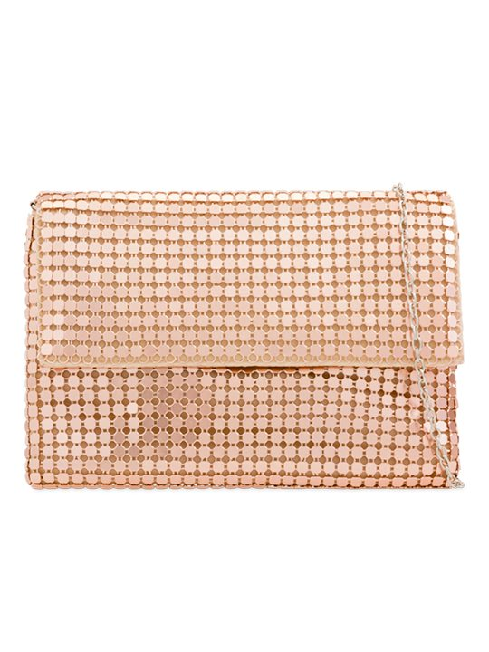 Champagne Sequin Clutch Bag