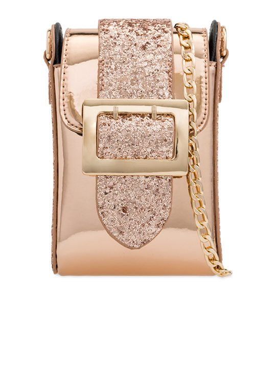 Champagne Glitter Shoulder Bag