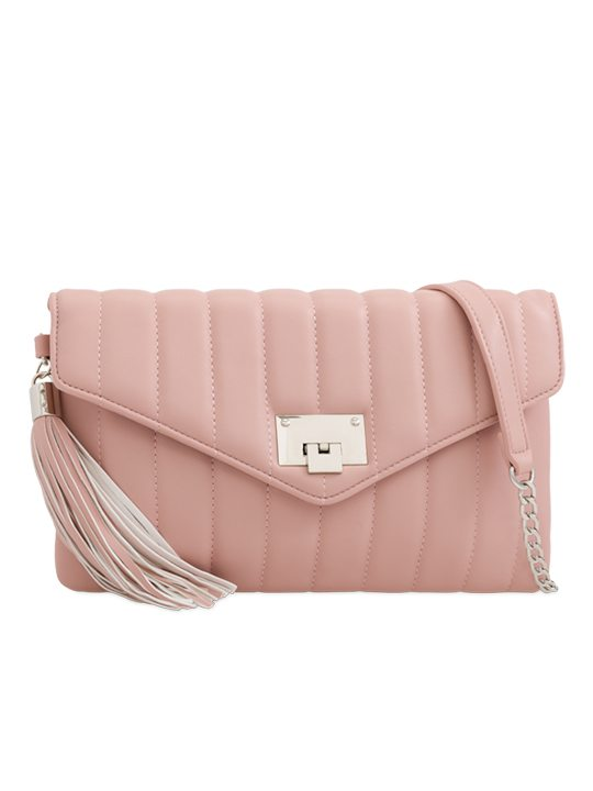 Blush Quilted Shoulder Bag