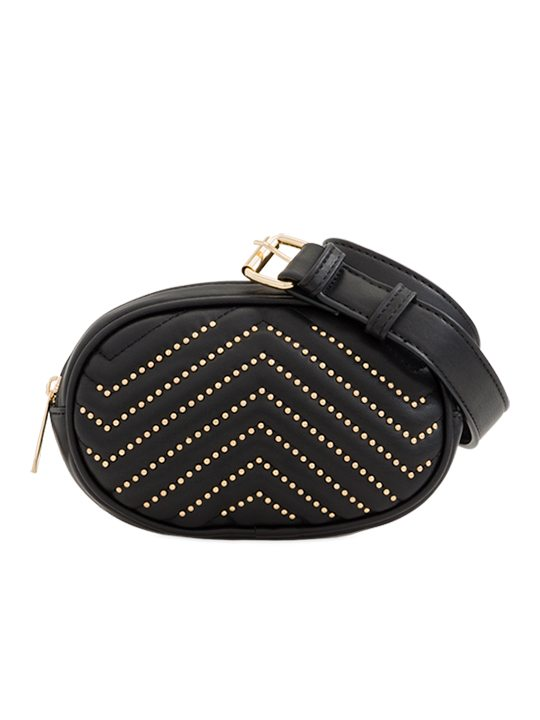 black Studded Bum Bag