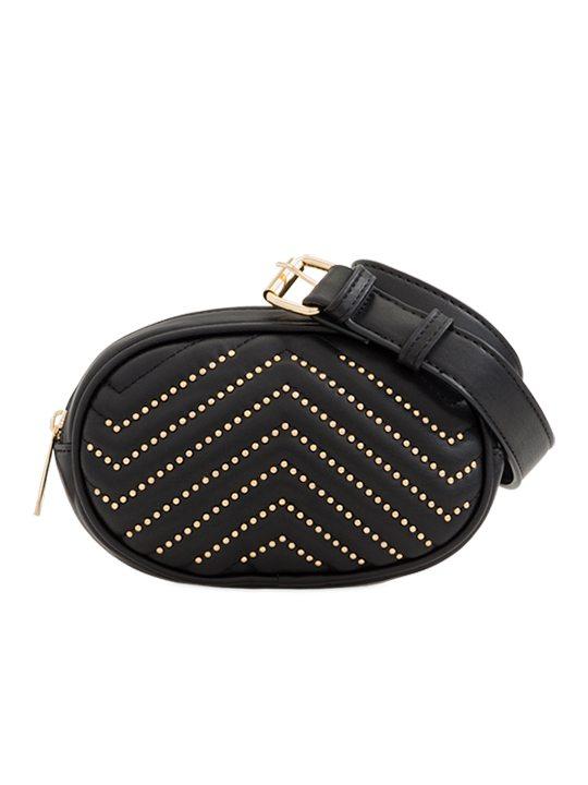 black Studded Bum Bag