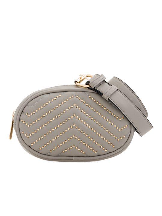 Grey Studded Bum Bag
