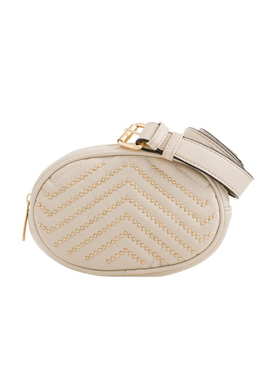 Beige Studded Bum Bag