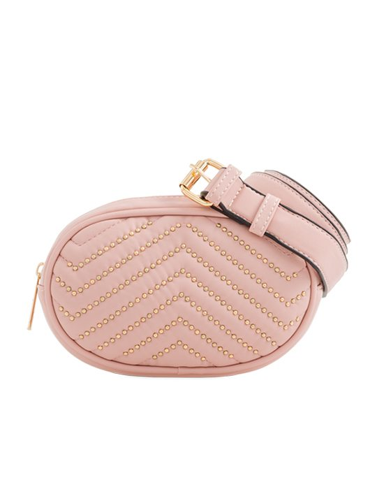 Pink Studded Bum Bag