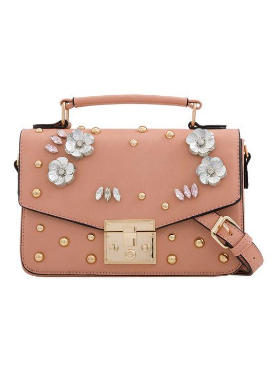 Pink Embellished Handbag