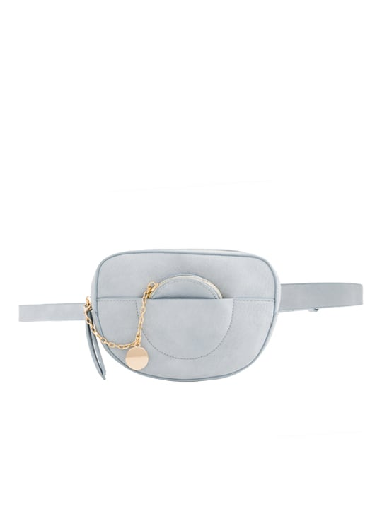 Grey Faux Leather Bum Bag