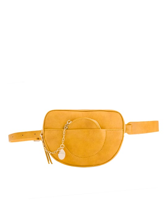 Yellow Faux Leather Bum Bag