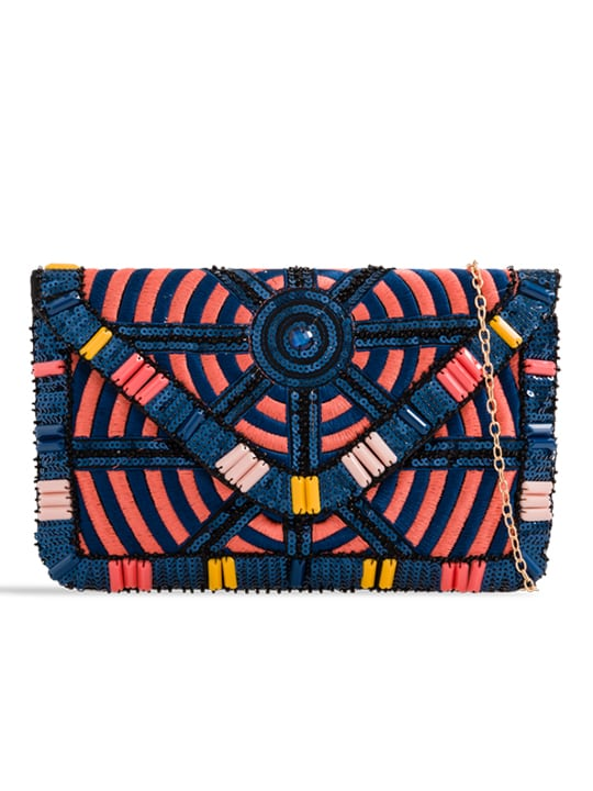 Colourful Embellished Clutch Bag