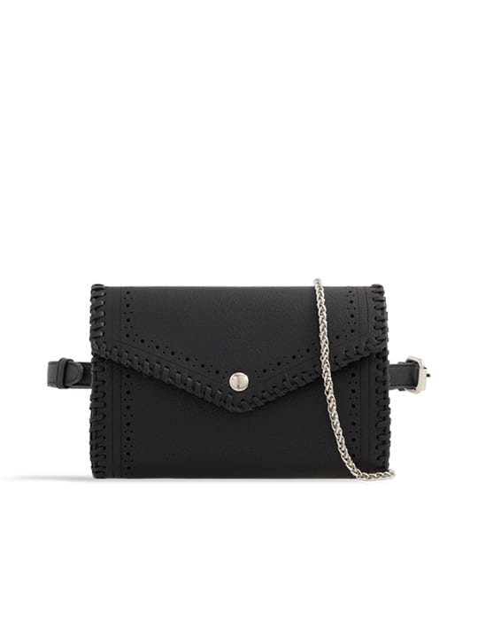 Black Envelope Convertible Bum Bag