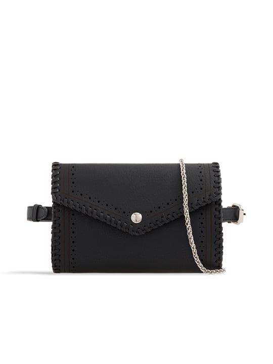 Black Envelope Convertible Bum Bag