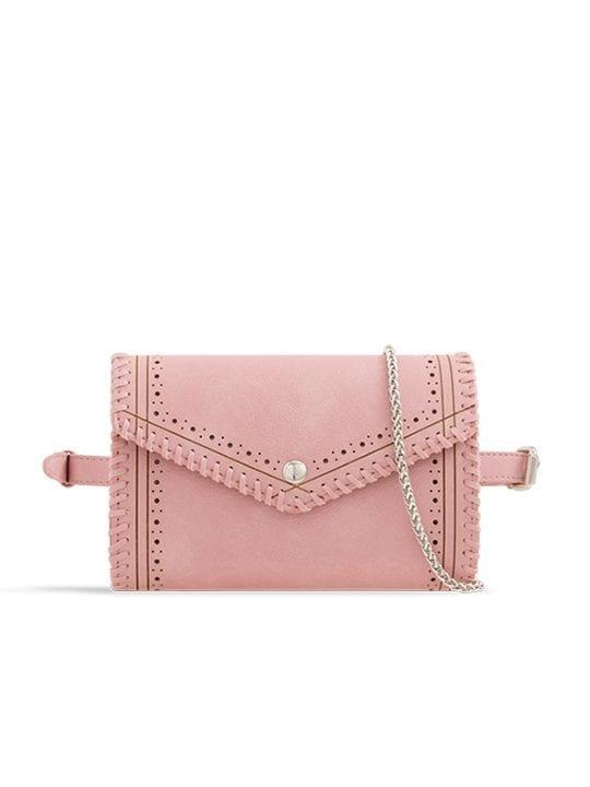 Pink Envelope Convertible Bum Bag