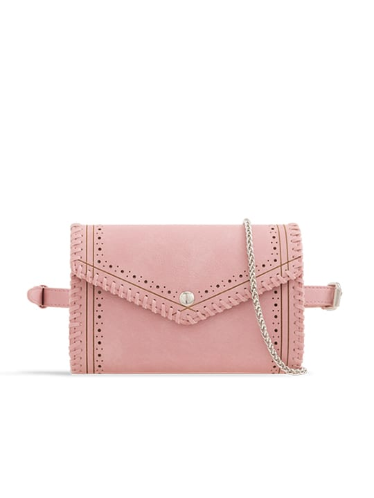 Pink Envelope Convertible Bum Bag