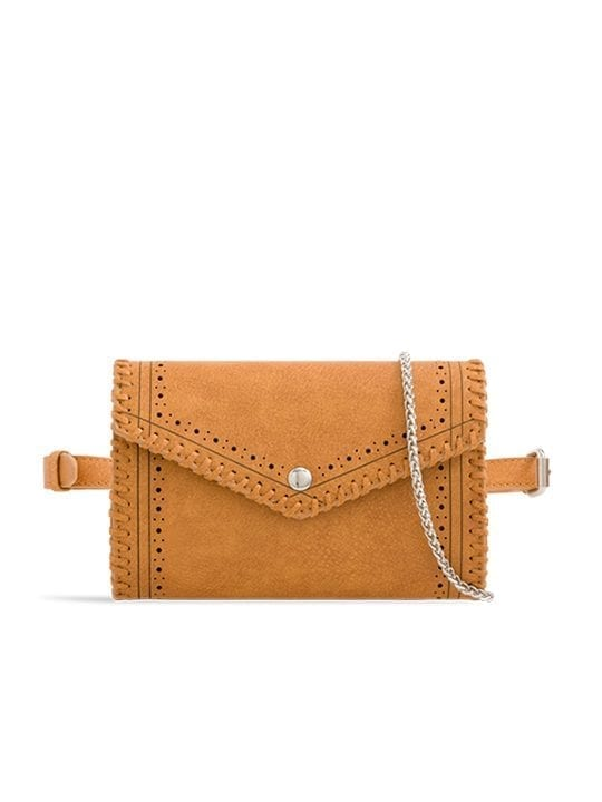 Tan Envelope Convertible Bum Bag