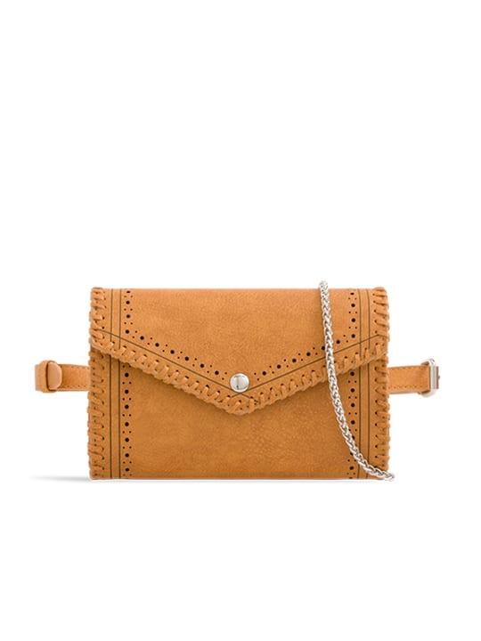 Tan Envelope Convertible Bum Bag