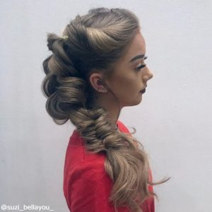 fishtail with extensions