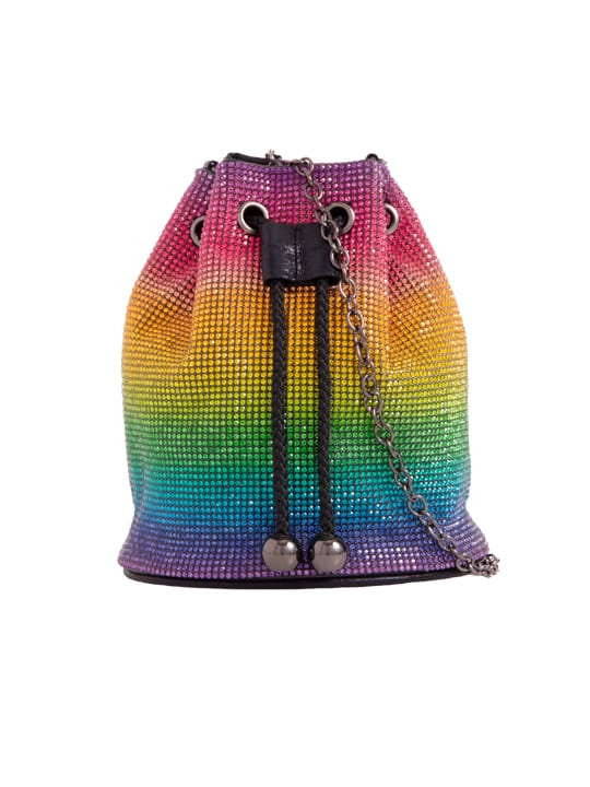 Colourful Diamante Bucket Shoulder Bag
