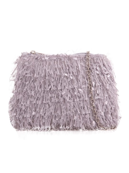 Grey Silky Fringe Bag