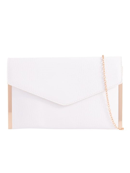 White Metal Trim Clutch