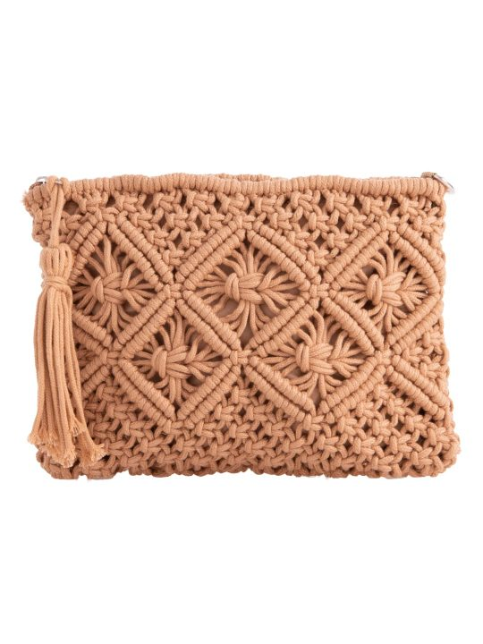 bohemian crochet clutch bag