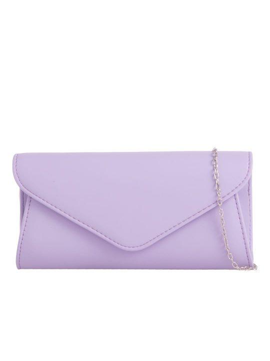 Classic Lilac Envelope Clutch
