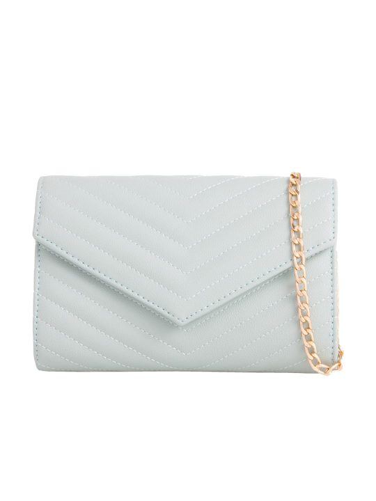 Mint Quilted Shoulder Bag