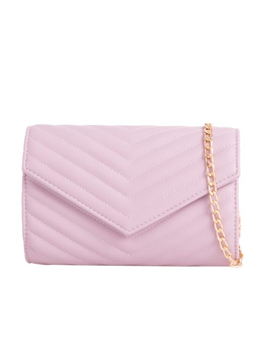 lilac quilted shoulder bag